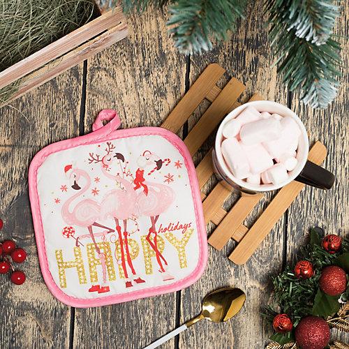 """Набор кухонный Доляна """"Фламинго"""" 2 предмета - розовый"""