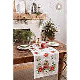Дорожка на стол Этель Christmas red flowers