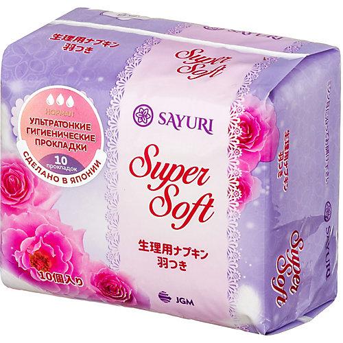 Гигиенические прокладки Sayuri Super Soft, нормал, 10 шт