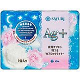 Ночные гигиенические прокладки Sayuri  Argentum+, 7 шт