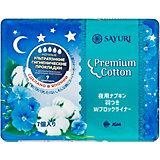 Ночные гигиенические прокладки Sayuri  Premium Cotton, 7 шт