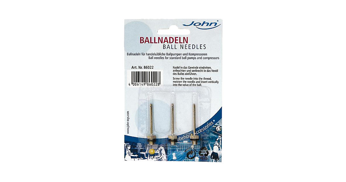 Ballnadeln, 3 Stück