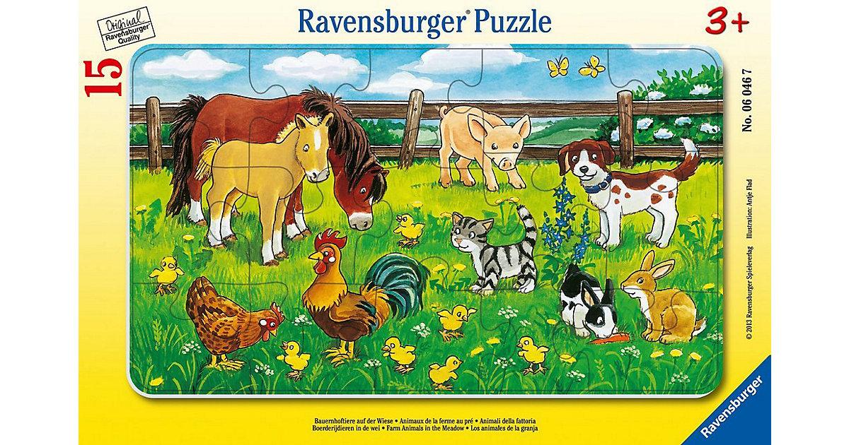 Bauernhoftiere (Rahmenpuzzle)