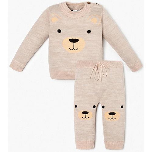Комплект Крошка Я: джемпер и брюки - бежевый от Крошка Я
