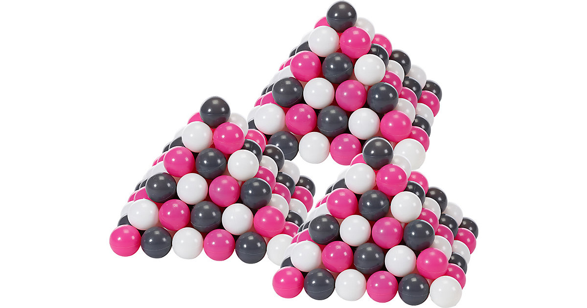 300 Bälle Bällebad, ca. Ø 6 cm - creme/grau/rosa, BPA-frei creme/rosa  Kinder