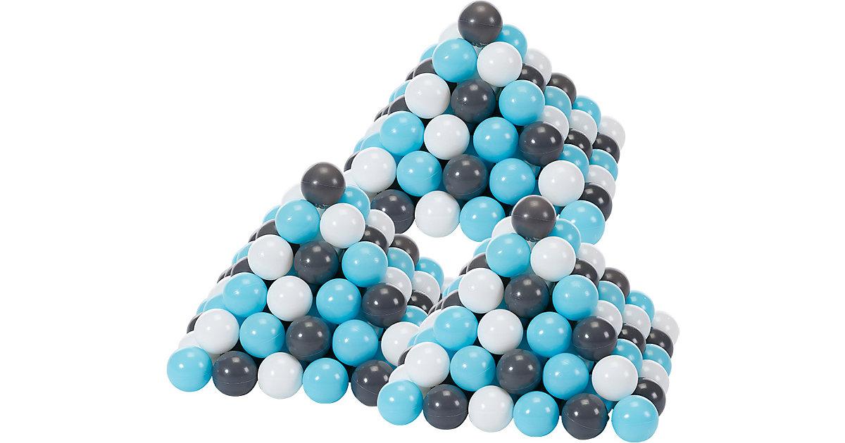 300 Bälle Bällebad, ca. Ø 6 cm - creme/grau/hellblau, BPA-frei blau-kombi  Kinder