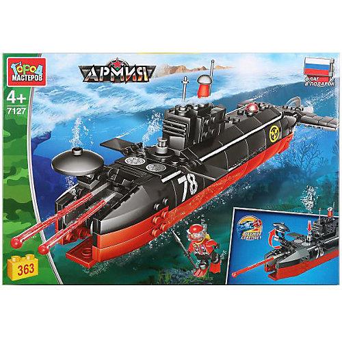"""Конструктор """"Город мастеров"""" подводная лодка, с фигуркой, 363 дет. от Город мастеров"""