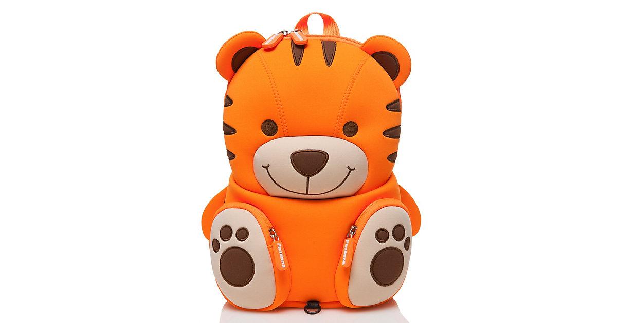 Kinderrucksack Tommy Tiger mit Brustgurt Jungen und Mädchen ab 2 Jahren Kindergarten, Kita und Freizeit Kindergartenrucksäcke orange  Kinder