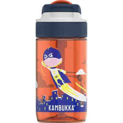 Tritan-Trinkflasche LAGOON Spout Flying Superboy, 400 ml, inkl. Trinkhalm