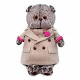 Мягкая игрушка Budi Basa Кот Басик в кремовом пальто, 19 см