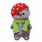 Мягкая игрушка Budi Basa Кот Басик Baby в шапке мухомор, 20 см