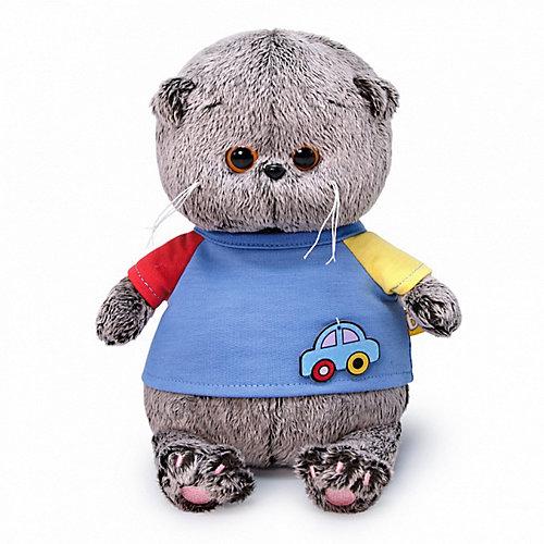 Мягкая игрушка Budi Basa Кот Басик Baby в футболке с машинкой, 20 см от Budi Basa