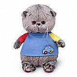 Мягкая игрушка Budi Basa Кот Басик Baby в футболке с машинкой, 20 см