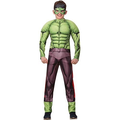 Карнавальный костюм Батик Мстители Халк с мускулами - зеленый от Батик