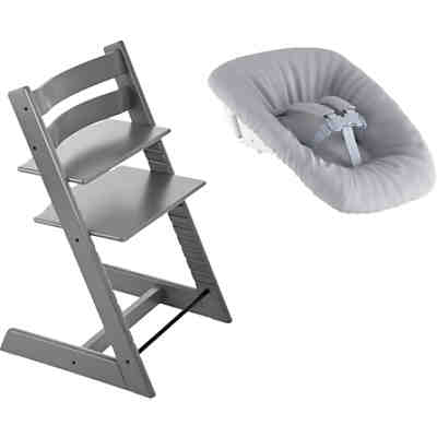 Tripp Trapp® Hochstuhl, Classic Collection, Storm Grey inkl. Tripp Trapp® Newborn Set™ Schale, Grey