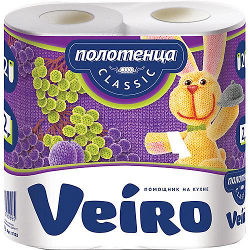 Бумажные полотенца Veiro Classic 2-х слойные, 12,5 м, 2 шт