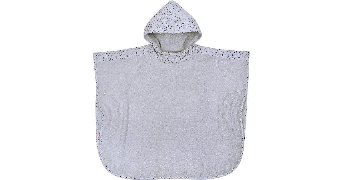 Bade-Poncho, Sterne grau, 60 x 75 cm hellgrau