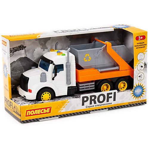 """Машинка инерционная Полесье """"Профи. Автомобиль-контейнеровоз"""", свет, звук от Полесье"""