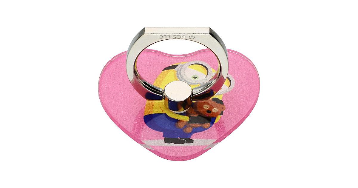 Minions Handy-Ring-Halter Handyhüllen Mädchen rosa Gr. iPhone X  Kinder