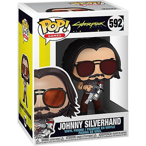Фигурка Funko POP! Vinyl: Games: Киберпанк 2077: Джонни Сильверхенд с пистолетом, 47522 от Funko
