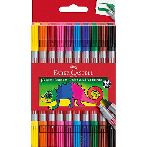 Фломастеры двусторонние Faber-Castell, 10 шт, смываемые от Faber-Castell
