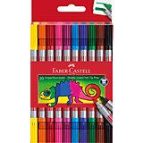 Фломастеры двусторонние Faber-Castell, 10 шт, смываемые