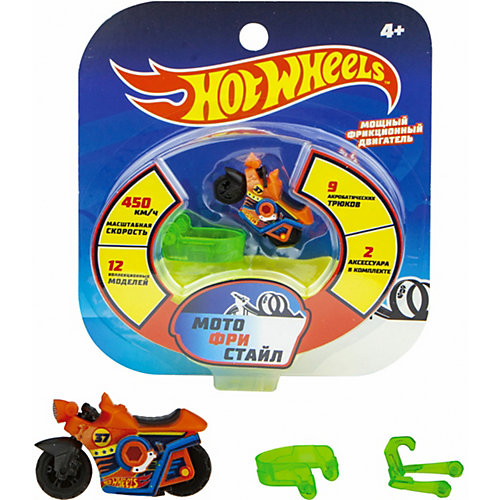 Мотобайк инерционный 1Toy Hot Wheels от 1Toy