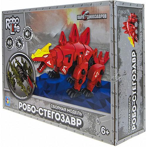 """Сборная модель 1Toy RoboLife """"Робо-стегозавр"""", 49 деталей от 1Toy"""