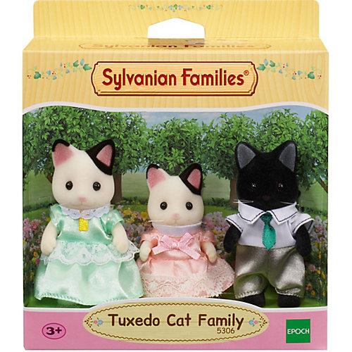 Игровой набор Sylvanian Families Семья черно-белых котов, 3 фигурки от Эпоха Чудес