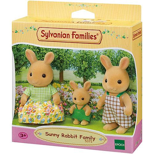 Игровой набор Sylvanian Families Семья Солнечных кроликов, 3 фигурки от Эпоха Чудес