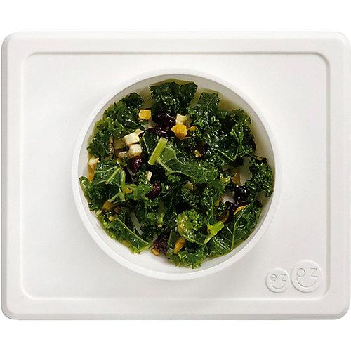 Тарелка с подставкой Ezpz Mini Bowl серая от Ezpz