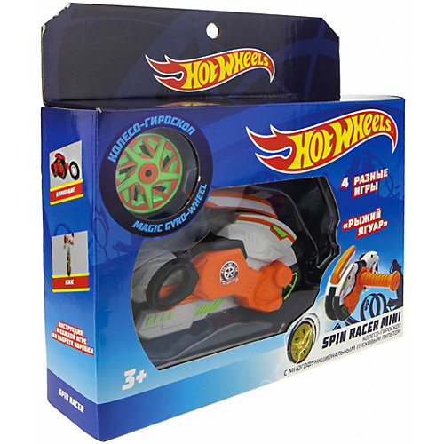 "Колесо-гироскоп 1Toy Hot Wheels Spin Racer ""Рыжий Ягуар"", 12 см от 1Toy"