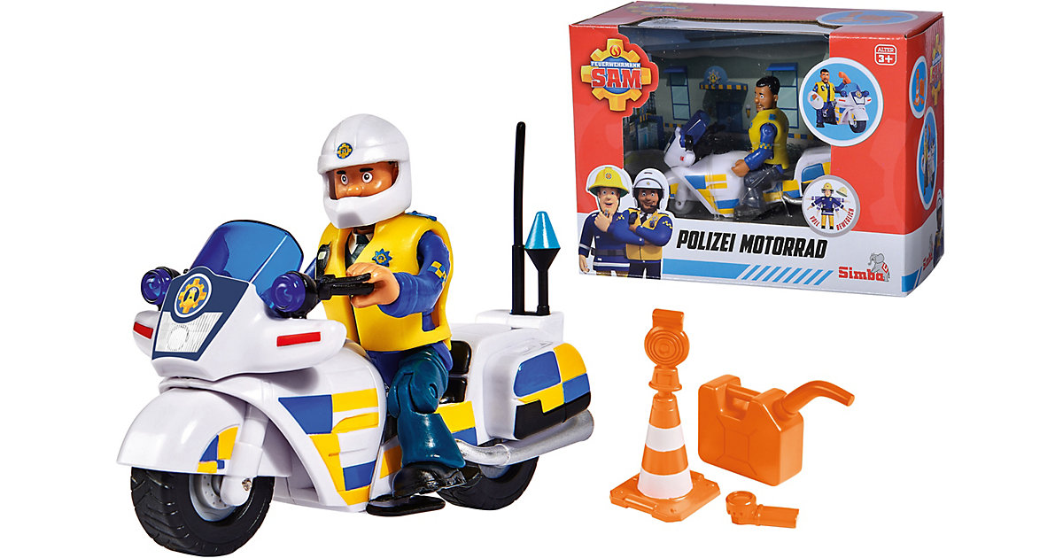 Feuerwehrmann Sam Polizei Motorrad mit Figur
