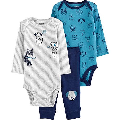 Комплект для новорожденного carter`s - синий/белый от carter`s