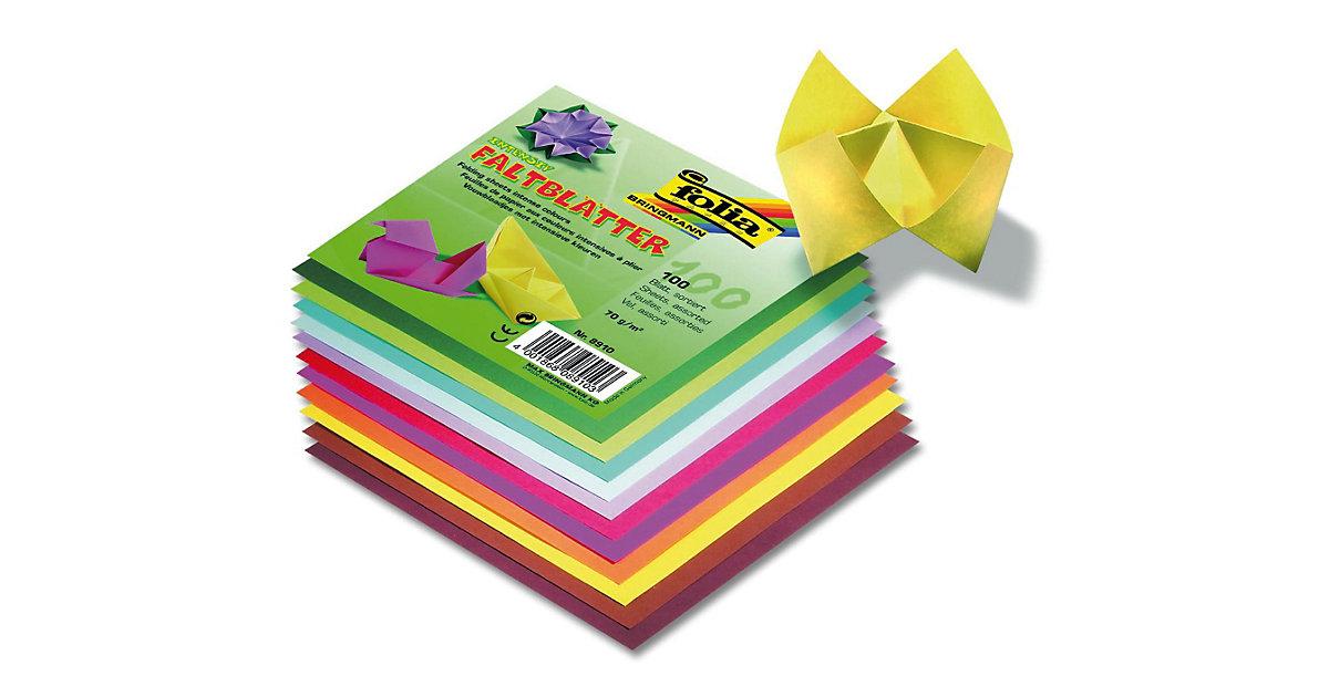 Faltblätter 15 x 15 cm farbig sortiert, 100 Blatt