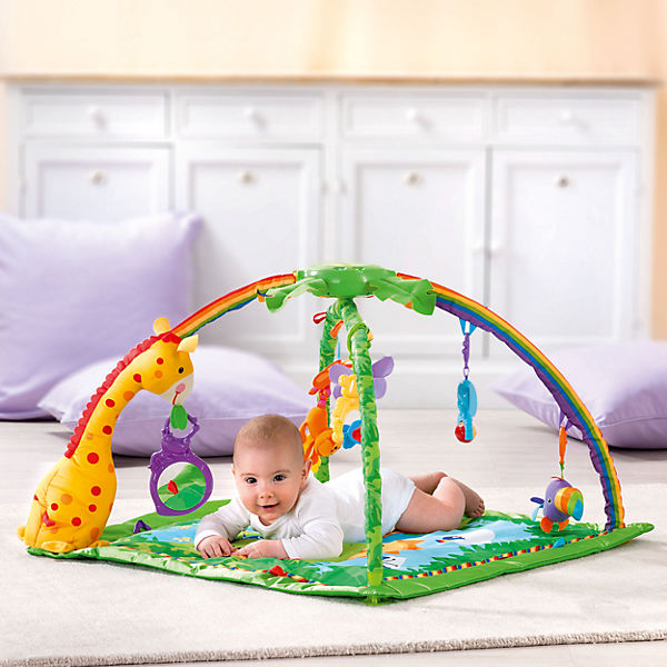Fisher price rainforest deluxe activity krabbeldecke mit