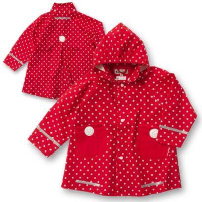 PLAYSHOES Kinder Regenmantel Punkte für Mädchen, Playshoes