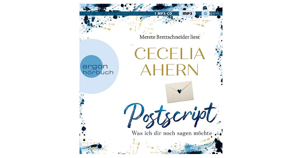 CD Cecelia Ahern - Postscript Was ich dir noch sagen möchte / Holly Kennedy Bd.2, 1 MP3-CD Hörbuch