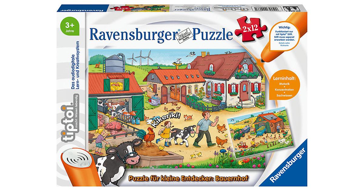 tiptoi® Puzzle kleine Entdecker: Bauernhof (ohne Stift), 2 x 12 Teile  Kleinkinder