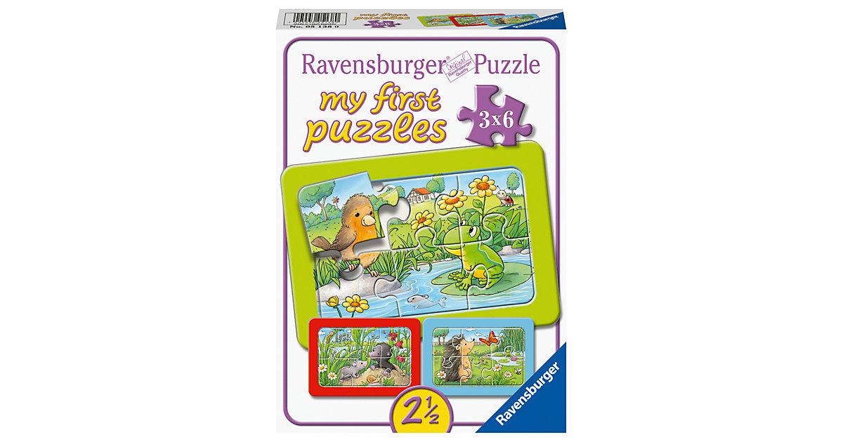 My First Puzzle Kleine Gartentiere, 3 x 6 Teile