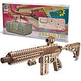 """Механический 3D-пазл из дерева Wood Trick """"Штурмовая винтовка AR-T"""", 496 элементов"""