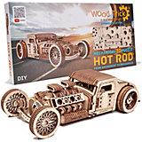 """Механический 3D-пазл из дерева Wood Trick """"Хот Род"""", 280 элементов"""