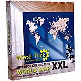 Сборная модель Wood Trick Карта мира XXL, 147 элементов