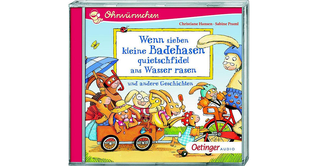 Hörbuch Ohrwürmchen Wenn sieben kleine Badehasen, Audio-CD Hörbuch