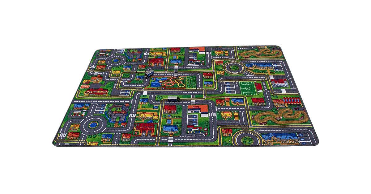 Spielmatte, Big City, 80 x 120 cm mehrfarbig