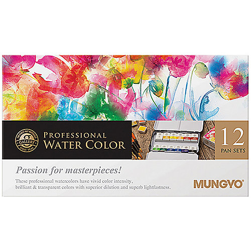 Профессиональная акварель Mungyo, 12 цветов от Mungyo