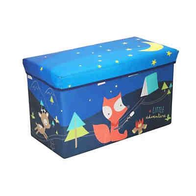 Aufbewahrungsbox mit Deckel Kinder Spielzeugkiste 65 L faltbar Staubox Stoffbox