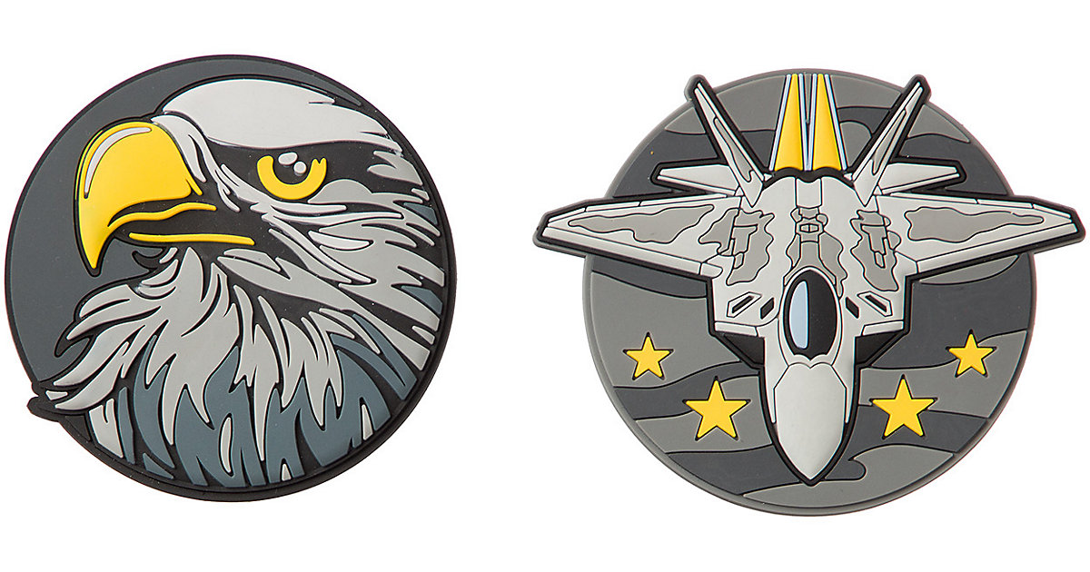 Patches Eagle & Fighter Jet grau