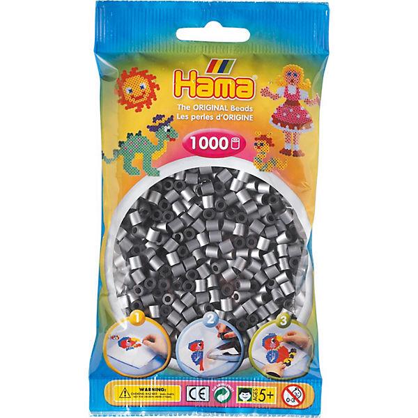 Hama 207 62 Midi Perlen 1000 Stück Silber Hama Perlen Mytoys