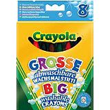 8  больших смываемых восковых мелков, Crayola